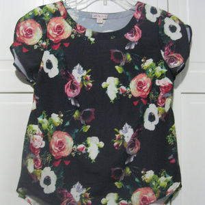 Floral Short Sleeve Blouse